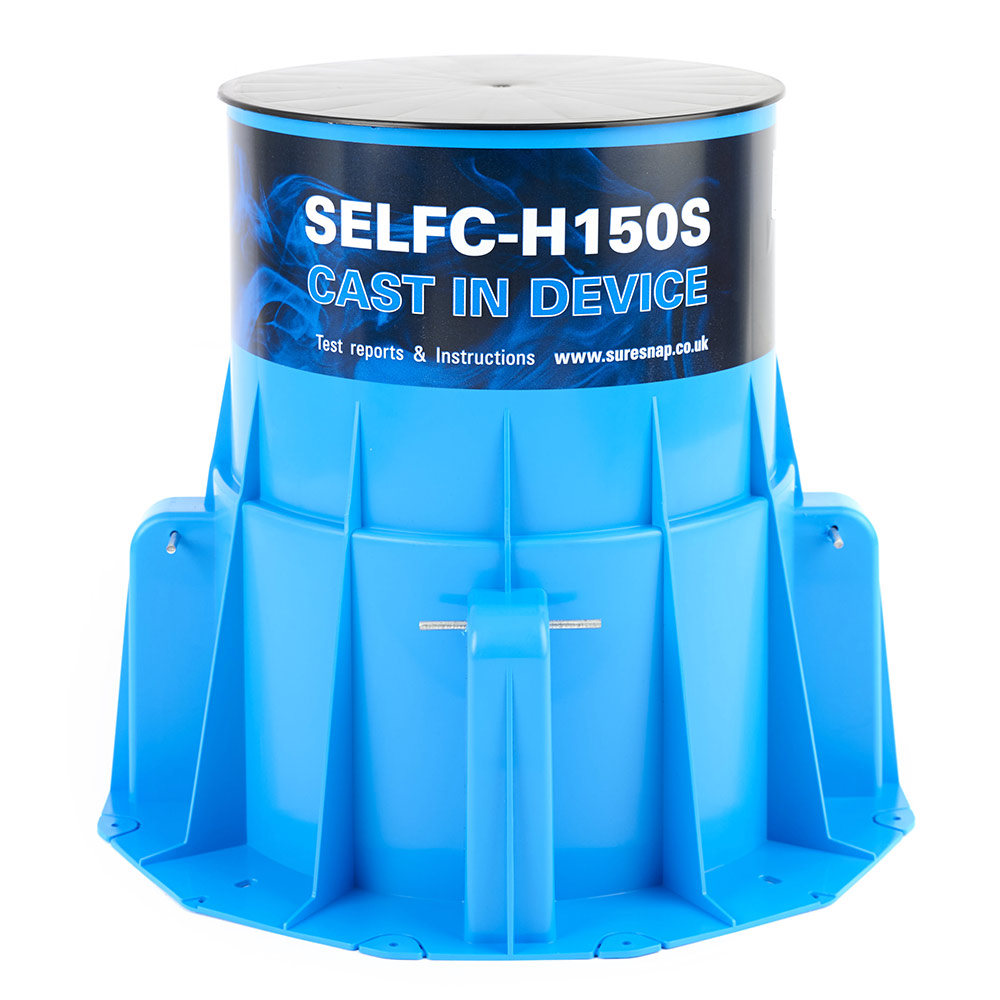 H150S-RR - a high-top, cast-in fire collar for concrete slabs 150mm or thicker